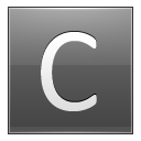 Letter C Grey Emoticon