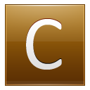 Letter C Gold Emoticon