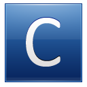 Letter C Blue Emoticon