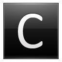 Letter C Black Emoticon