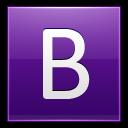 Letter B Violet Emoticon