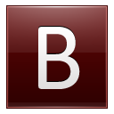 Letter B Red Emoticon