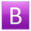 Letter B Pink Emoticon