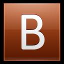 Letter B Orange Emoticon