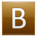 Letter B Gold Emoticon