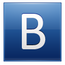 Letter B Blue Emoticon