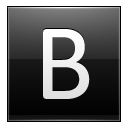 Letter B Black Emoticon
