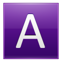 Letter A Violet Emoticon