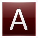 Letter A Red Emoticon