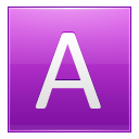 Letter A Pink Emoticon