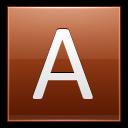 Letter A Orange Emoticon