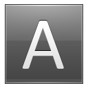 Letter A Grey Emoticon