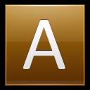 Letter A Gold Emoticon