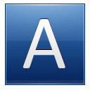 Letter A Blue Emoticon