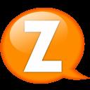 Speech Balloon Orange Z Emoticon