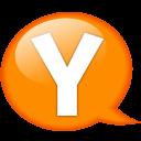 Speech Balloon Orange Y Emoticon