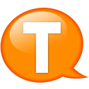 Speech Balloon Orange T Emoticon