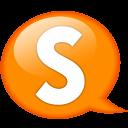 Speech Balloon Orange S Emoticon