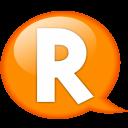 Speech Balloon Orange R Emoticon