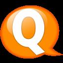 Speech Balloon Orange Q Emoticon