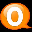 Speech Balloon Orange O Emoticon