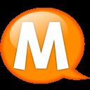 Speech Balloon Orange M Emoticon