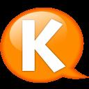 Speech Balloon Orange K Emoticon