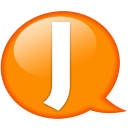 Speech Balloon Orange J Emoticon