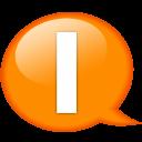Speech Balloon Orange I Emoticon