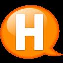 Speech Balloon Orange H Emoticon