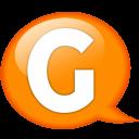 Speech Balloon Orange G Emoticon