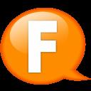 Speech Balloon Orange F Emoticon