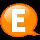Speech Balloon Orange E Emoticon