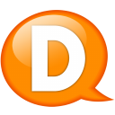 Speech Balloon Orange D Emoticon
