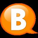Speech Balloon Orange B Emoticon