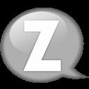 Speech Balloon White Z Emoticon