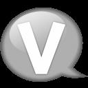 Speech Balloon White V Emoticon
