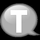 Speech Balloon White T Emoticon