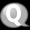Speech Balloon White Q Emoticon
