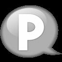 Speech Balloon White P Emoticon