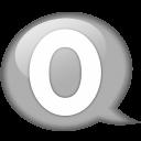 Speech Balloon White O Emoticon