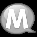 Speech Balloon White M Emoticon