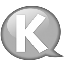 Speech Balloon White K Emoticon