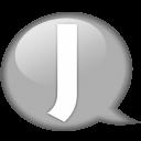 Speech Balloon White J Emoticon