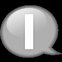 Speech Balloon White I Emoticon