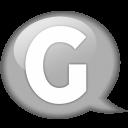 Speech Balloon White G Emoticon
