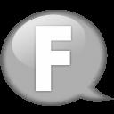 Speech Balloon White F Emoticon