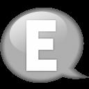 Speech Balloon White E Emoticon
