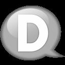 Speech Balloon White D Emoticon