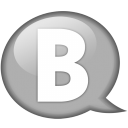 Speech Balloon White B Emoticon